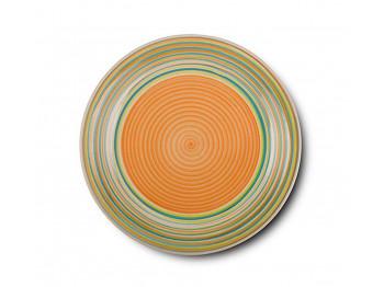 ափսե NAVA 10-141-001 LINES ORANGE DINNER 27CM
