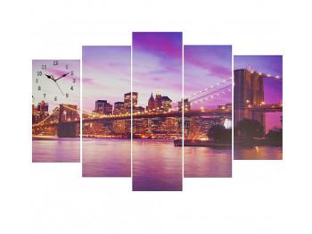 պատի ժամացույց SIMA-LAND Night city lights and architecture 2045116