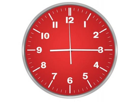 պատի ժամացույց CENTEK CT-7100 RED