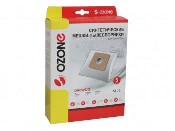 փոշեկուլի պարկ OZONE M-16 (x5)
