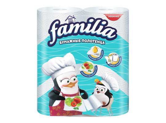 անձեռոցիկ FAMILIA KITCHEN TOWEL WHITE 2PL 2X14-100(000259) 0259