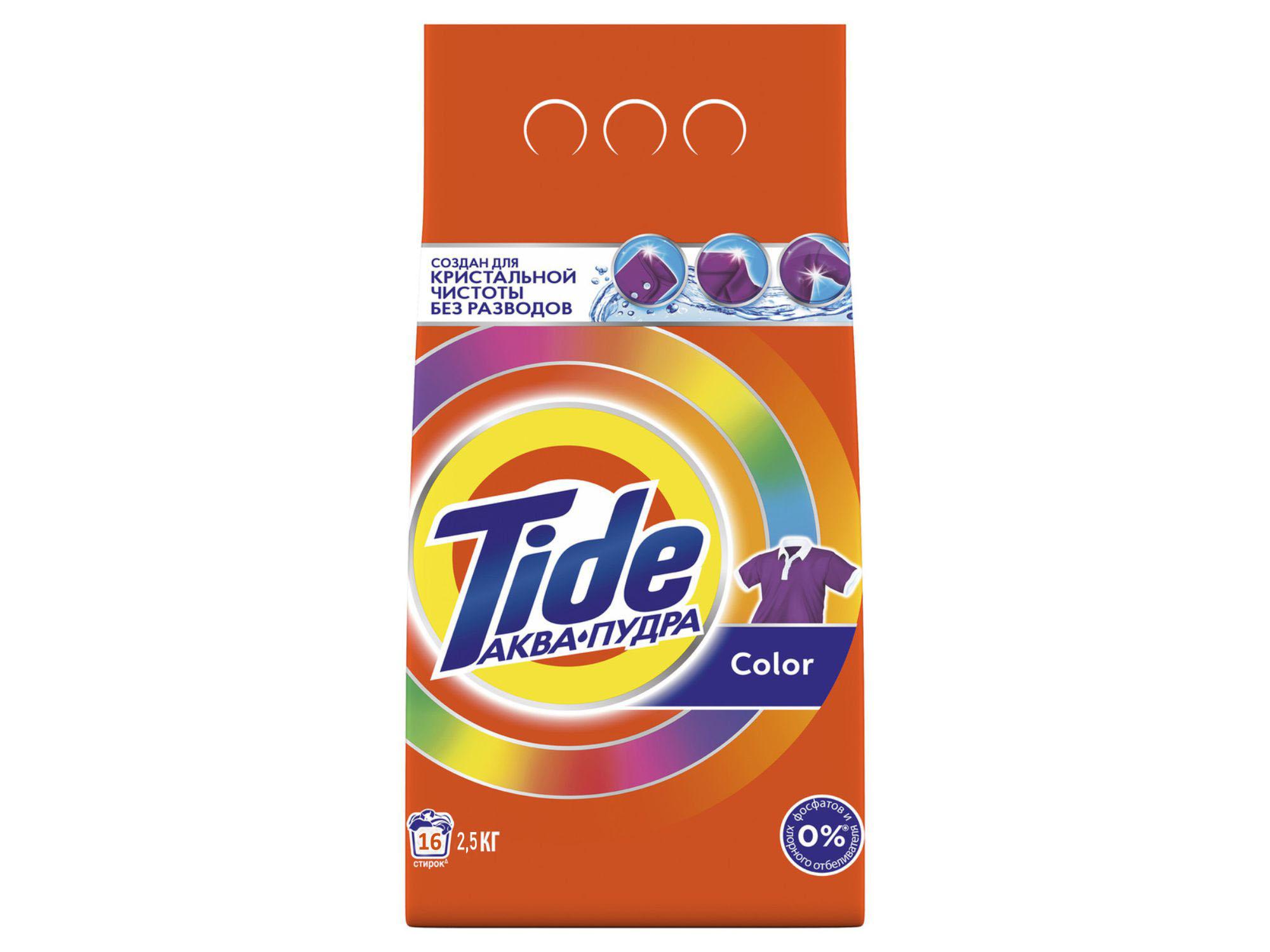 լվացքի փոշի եվ գել TIDE POWDER LS COLOR 2,5KG RUS(431181) 1181