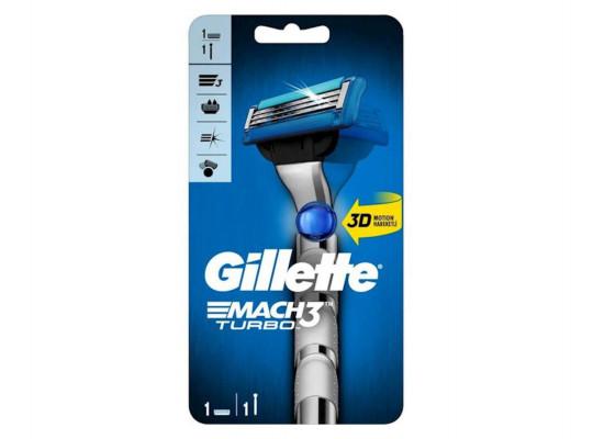 սափրվելու համար GILLETTE MACH 3 TURBO 1UP(514281) 4281