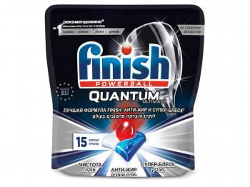 սպասք լվանալու միջոցներ FINISH PODS QUANTUM ULTIMATE 15pc(995088) 5088