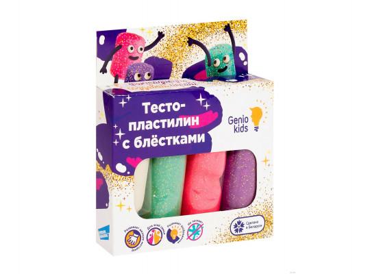 պլաստիրին GENIO TA1087 Մանկական Ծեփամածուկ 4 գույն փայլեր