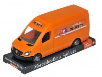 transport TIGRES 39719 Mercedes-Benz Sprinter грузовой (оранжевый) на планшетке, Tigres