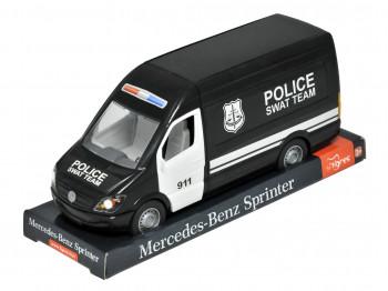 transport TIGRES 39721 Mercedes-Benz Sprinter грузовой (черный) на планшетке, Tigres