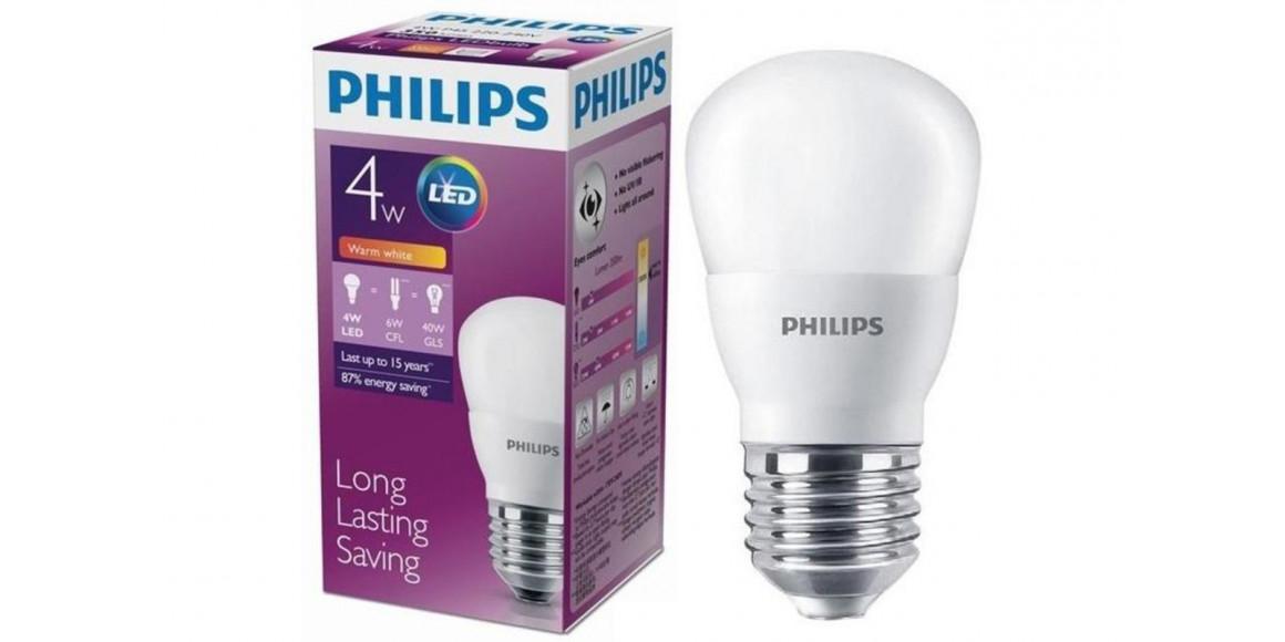 լամպ PHILIPS LED BULB-4-40W-E27-3000K-230V-P45(484906)