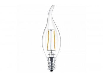 լամպ PHILIPS LED CLASSIC-2-25W-BA35E14-WWCL-NDAPR(574294)