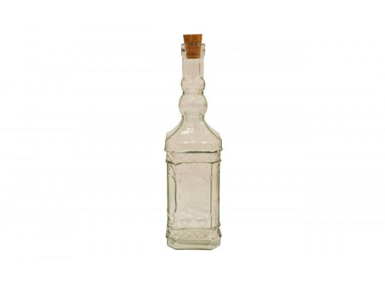 անոթ LIMON 189200 GLASS BOTTLE W/CORK LID SMALL(904659)