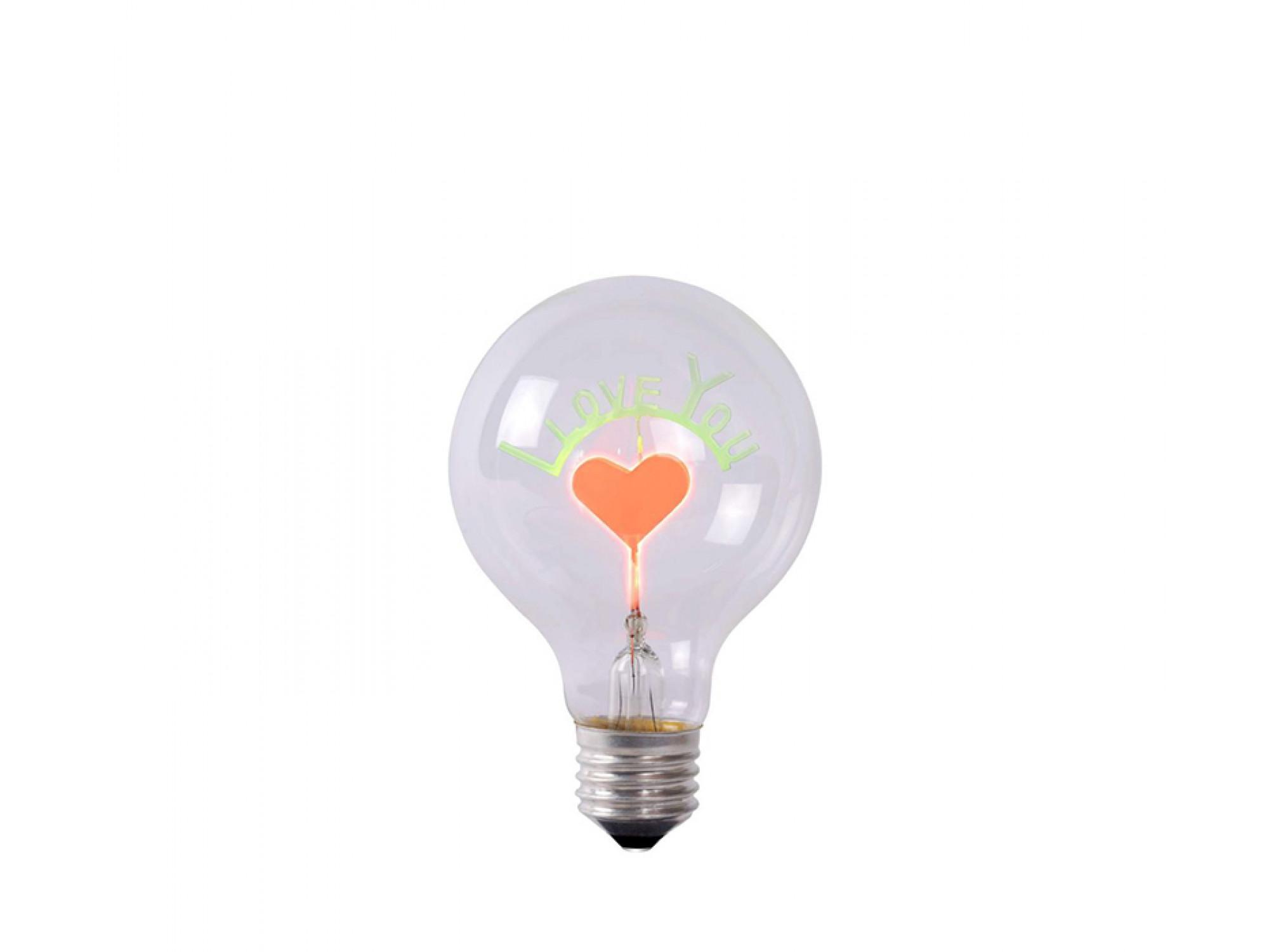 լամպ LUCIDE 49037/03/60 LED BULB-I LOVE YOU